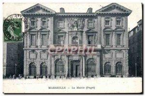 Old Postcard Marseille City Hall
