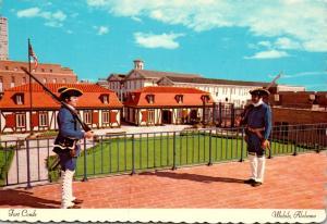 Alabama Mobile Fort Conde Sentinels In Full Dress