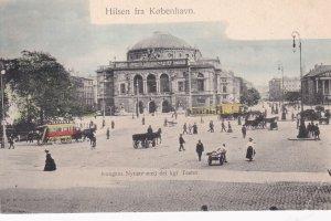 Hilsen fra KOBENHVN, Denmark, 1900-10s; Kougens Nytorv med det kgl Teater