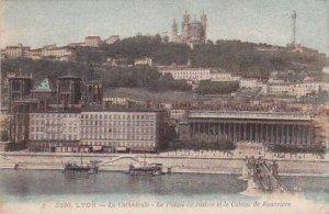 France Lyon La Cathedrale Le Palais de Justice et le Coteau de Fourviere