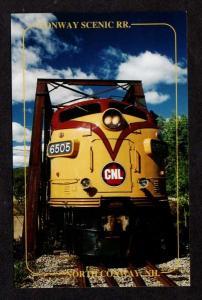 NH Conway Railroad Train Loco No 6505 Bartlett New Hampshire Postcard PC RR