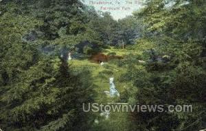 The Glen, Fairmount Park Philadelphia PA 1909
