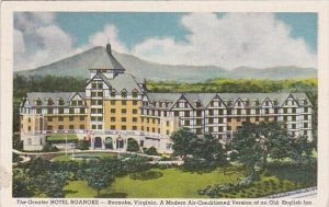 Virginia Roanoke The Greater Hotel Roanoke A Modern Air Conditioned Version O...