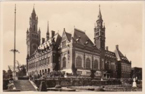 Netherlands Den Haag Palace Of Peace Front and Side View Real Photo