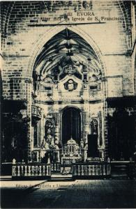 CPA Evora- Altar mor da Igreja de S. Francisco PORTUGAL (760800)