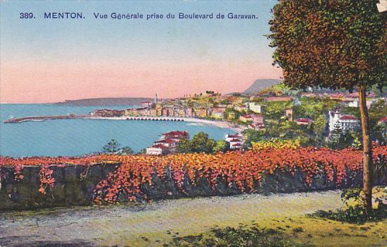 France Menton Vue generale prise du Boulevard de Garavan