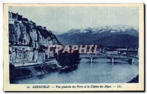 CARTE Postal Grenoble General view Old Forts and the Chaine des Alpes