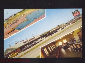 TULSA OKLAHOMA TOWN & COUNTRY MOTOR HOTEL ROUTE 66 ADVERTISING POSTCARD