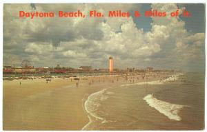 USA, Daytona Beach, Florida, Miles & Miles of it, unused Postcard