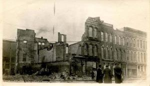 OH - Dayton. Mar.1913 Flood Aftermath. SW Cor 3rd & St Clair (PHOTO, not a PC)