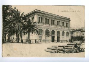138442 France AJACCIO HOTEL de Ville Vintage postcard