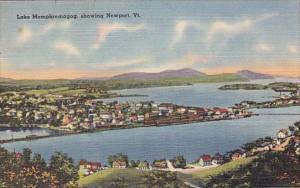 Lake Memphremagog Showing Newport Vermont 1953