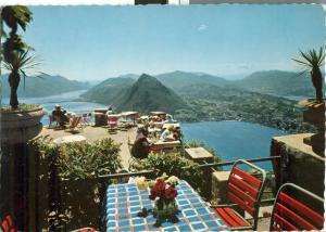 Switzerland, Suisse, Lugano, Vista del Monte Bre, 1966 used