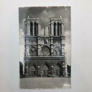 NOTRE DAME Cathedral Church Paris France Vintage View Postcard