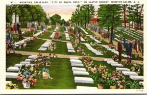 North Carolina Winston Salem Moravian Cemetery On Easter Sunday
