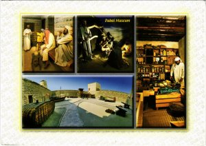 PC CPA U.A.E. DUBAI, SCENES FROM THE DUBAI MUSEUM, REAL PHOTO POSTCARD (b16379)