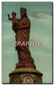 Le Puy Old Postcard Colossal statue of Our Lady of France