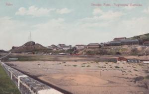 Steamer Point Regimental Barracks Aden Old Postcard