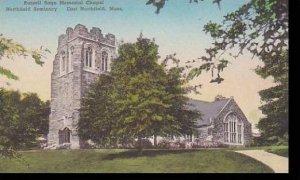 Massachusetts East Northfield Northfield Seminary Russell Sage Memorial Chape...