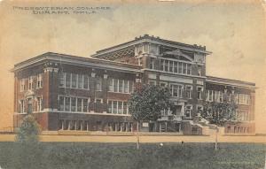 Durant Oklahoma~Presbyterian College~1911 Handcolored Postcard