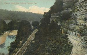 Sulphur Springs AR Railroad by Bluffs @ Butler Creek 1909 Monett & Paris RPO