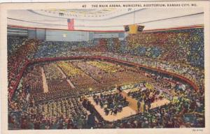 Missouri Kansas City Municipal Auditorium Main Arena 1945 Curteich