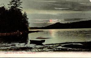 New Hampshire Keene Sunset On Lake Spofford 1908