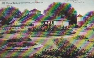 Iowa Des Moines Flower Garden At Union Park
