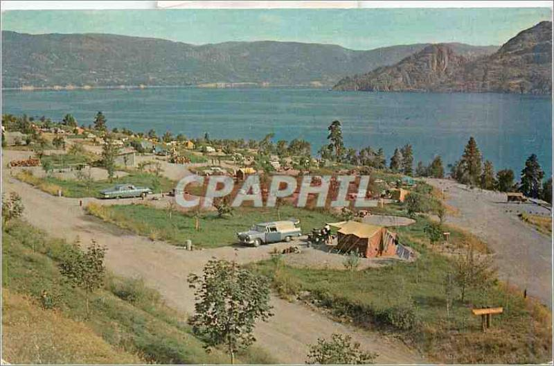 Postcard Modern Penticton BC One of the fine provincial campsites