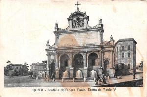 Italy Roma Fontana dell'acqua dell'acqua Paolo Eretta da Paolo V