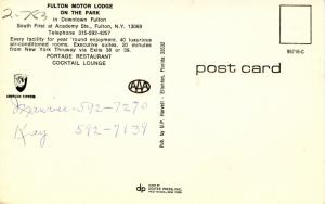 NY - Fulton. Fulton Motor Lodge on the Park