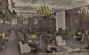 PITTSBURGH , Pennsylvania, 1916 ; English Room, Fort Pitt Hotel
