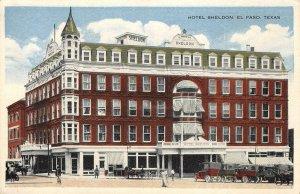 HOTEL SHELDON El Paso, Texas ca 1920s Vintage Postcard