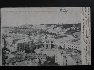 Italy: Genova - Panorama da S. Erigida e Stazione Princire c1903 UB Postcard