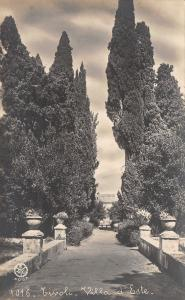 Tivoli Rome Italy~Villa d Este~Castle~Concrete Planters on Footbridge RPPC c1910