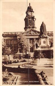 England Lancaster Town Hall and Victoria Monument, Luval Series, With Greetings!