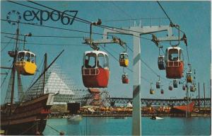 Expo67 - Montreal QC, Quebec, Canada - Sky Ride over Dolphin Lake