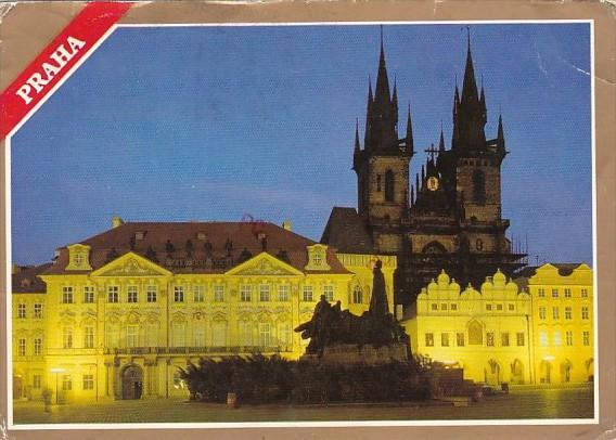Czech Republic Praha Old Town Square With Tyn Church