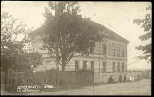 czech, DOMOUSNICE, Mladá Boleslav, Skola School (1931) RPPC