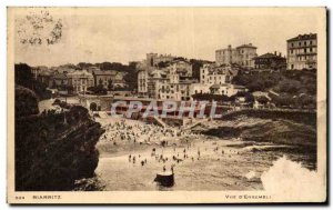 Old Postcard View of Biarritz & # 39Ensemble