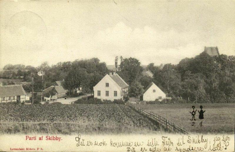 denmark, SKIBBY, Partial View (1907) Postcard