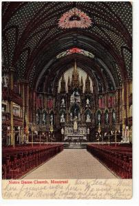 MONTREAL , Quebec , Canada , 00-10s ; Interior , Notre Dame Church