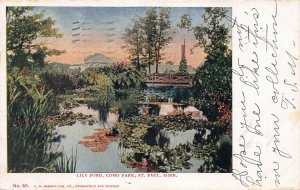Lily Pond, Como Park, St. Paul, Minnesota, Early Postcard, Used in 1906
