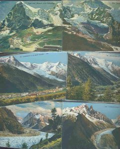pc712 postcard Switzerland Glaciers ELEVEN all MOBSC