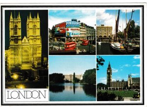 postcard London 5 views Fincom