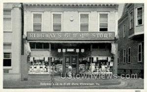 Ridgway's 5 cent to 1 Catawissa PA Unused