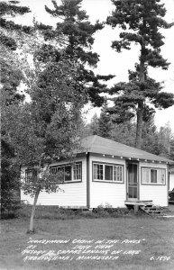 H37/ Lake Kabetogama Minnesota RPPC Postcard '47 Honeymoon Cabin Gappas