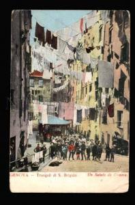 039519 ITALY Genova -Truogoli di S.Brigida.Un Saluto Vintage