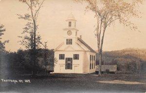 LPV63 Thetford Vermont VT Postcard RPPC Church