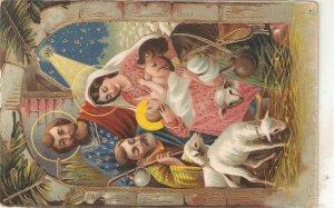 Nativity Scene Nice old vintage Spanisg religious postcard
